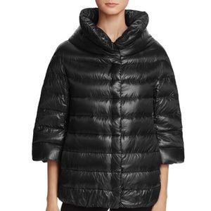 Herno Funnel Neck Down Coat 3/4 sleeve black
